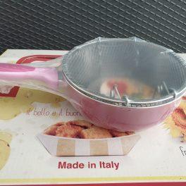 Linea Italia padella padellina con cestello per frittura 20cm colore rosa