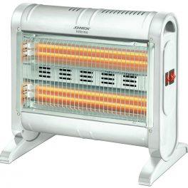 Johnson Stufa stufetta elettrica al quarzo ventilata 800/1600W 4 tubi al quarzo