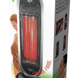 Johnson stufa elettrica in fibra di carbonio basso consumo oscillante fisso 900W