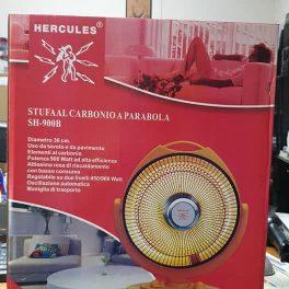 Stufa elettrica in fibra di carbonio a parabola diametro 36cm 900W oscillante