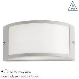 I-AUSTIN-AP BCO - Applique Esterna Profilo Alluminio Bianco Diffusore Policarbonato E27