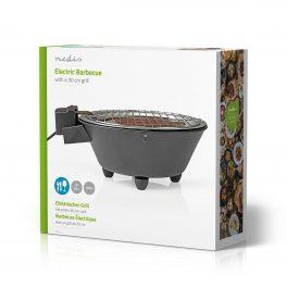 Nedis Barbecue elettrico bistecchiera griglia Bbq grlll rotondo da tavolo 1250W