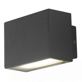 Applique Alluminio Nero Emissione Luminosa Superiore e Inferiore Led 6 watt Luce Naturale Intec LED-W-AGERA-90