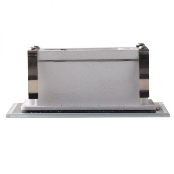 Segnapassi a INCASSO Cassetta  503 Bianco Effetto Vetro 3w IP65  INC-SLAB-503