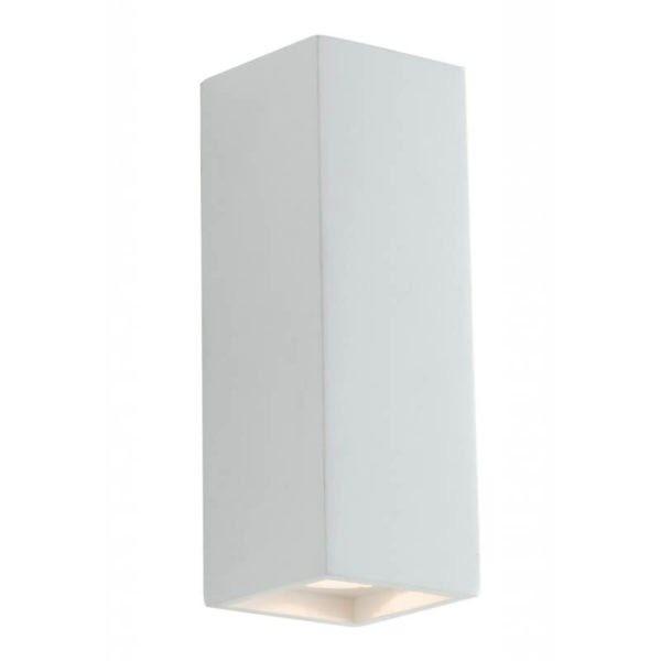 Applique a Parete in GESSO FOSTER Bianco Biemissione di Luce 2xGU10  I-FOSTER-AP