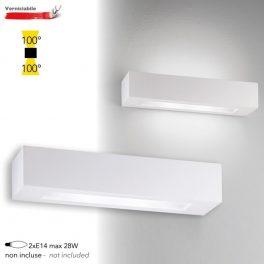 Applique a Parete Moderno in GESSO CANDIDA 45cm Lampadine E14 I-CANDIDA-L-AP