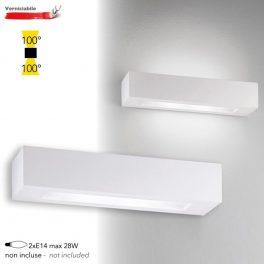 Applique a Parete Moderno in GESSO CANDIDA 36cm Lampadine E14 I-CANDIDA-L-AP
