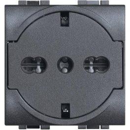 Presa FLAT schuko Bticino livinglight con protezione 10/16A L4140/16F