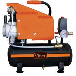 VINCO 60612 Vinco compressore coassiale portatile 6 litri motore elettrico
