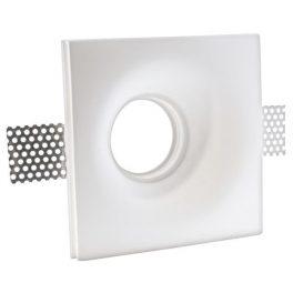 Supporto da Incasso  In Gesso Per Lampade PAR16 (GU10) ed MR16, DIM. 13,5x13,5x5cm